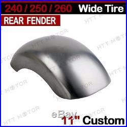 11 Custom Rear Fender For Harley Softail Chopper Bobber 240/250/260 Wide Tire