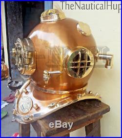 18 Diving Helmet Antique Vintage U. S Navy Mark V Deep Sca Divers Helmet Replica