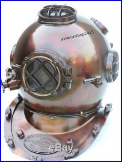 18' U. S Navy Mark Antique Diving Divers Helmet Solid Copper & Brass Replica