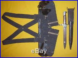 1895 Usmc Usn Winchester Lee-navy Cartridge Belt & Suspenders & Bayonet Set#2