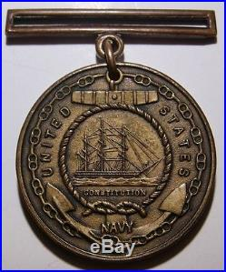 1925 USS S-34 Submarine US Navy Good Conduct Medal Roger Atwell