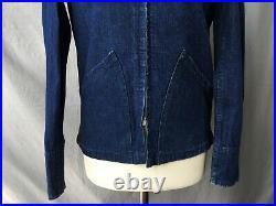 1940's Denim WW2 Jacket 1940's Vtg Denim Cinch Jacket USN type Denim Jacket Sz S