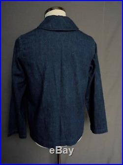 1940s Denim US Navy WW2 Chore Jacket WW2 Dungaree Jacket 1940's USN Denim WW2 36