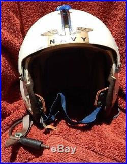 1950's USN Jet Pilot Helmet Type APH-5 Complete with earphones and Original Pads