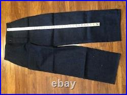 40s WWII USN Sailor Indigo Denim Jeans Donut Button Fly 31 NXsx 74351 WW2 NEW