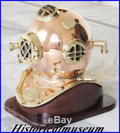 Antiqe U. S Navy Mark Copper & Brass 18 Scuba Beautiful Shine Divers Helmet