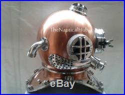 Antique 18 Boston Diving Helmet U. S Navy Mark V Deep Sea Divers Helmet Replica