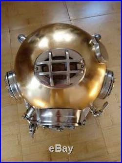 Antique 18 Diving Vintage Copper MARK V U. S Navy Deep Sea Divers Helmet Replica