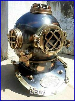 Antique 18 Diving vintage BOSTON MARK V U. S Navy Deep Sea Divers Helmet Replica
