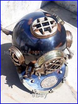 Antique 18 U. S Navy Diving Helmet Mark V Deep Sea Divers Helmet Vintage Replica