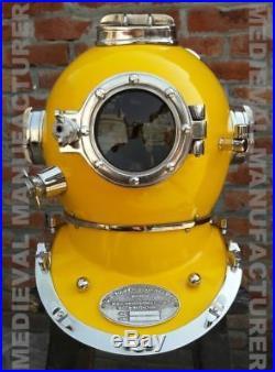 Antique 18vintage Replic U. S Navy Diving Helmet Mark V Deep Sea Divers Helmet