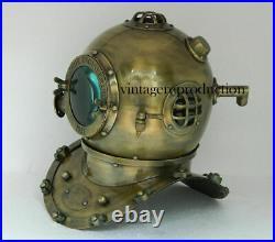 Antique Anchor Scuba Boston Divers Diving Helmet US Navy Mark Deep Marine Diver