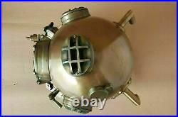 Antique Boston Navy Vintage Dive Helmet Mark V Morse Sea Diving Divers Helmet