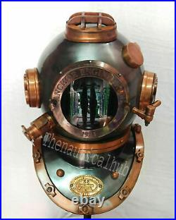 Antique Boston Scuba Diving Anchor Navy Mark Deep Marine Divers Diving Helmet
