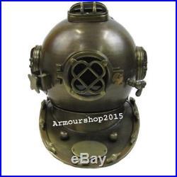 Antique Brass Aluminum Diving Helmet U. S. Navy Mark-V Full Size Replica