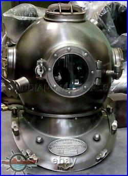 Antique Brass Scuba Divers Diving Helmet Navy Mark V Deep Sea Marine Morse Gift