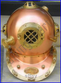 Antique Diving Divers Helmet Steel & Brass U. S Navy Mark V Full Size 18'