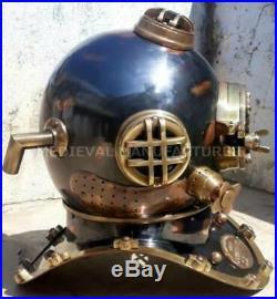 Antique Diving Vintage Boston MARK V U. S Navy Deep Sea SCA Divers Helmet Replica