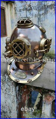 Antique Morse Style US Navy Diver Helmet Vintage Diving Helmet Deep Sea Scuba