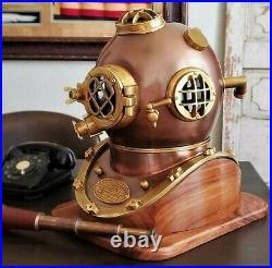 Antique Navy Boston Brass Morse Diving Helmet Scuba Divers Marine Sea Divers SCA