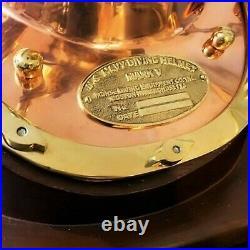 Antique Navy Vintage Brass Diving Helmet Mark V Deep Sea Divers Morse Marine Sea