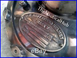 Antique Replica Diving Helmet U. S Navy Mark V Deep Sca Vintage 18 Divers Helmet