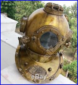 Antique Scuba SCA U. S Navy Mark V Diving Divers Helmet Deep Sea Full Size Diver