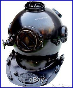 Antique Solid Brass & Morse U. S Navy Mark Diving Divers Helmet Christmas Gift