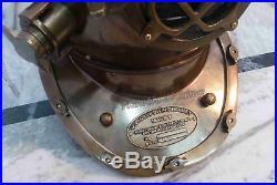 Antique Style Morse Diving Helmet U. S Navy Mark V Solid Iron Full Size 18