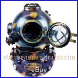 Antique U. S Navy Brass Divers Diving Helmet Deep sea Scuba Mark V FULL SIZE gift