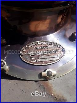 Antique U. S Navy Diving Helmet Mark V Deep Sea Divers Helmet Vintage Replica 18