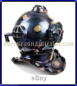 Antique U. S Navy Mark V Brass Divers Diving Helmet FULL SIZE Deep sea Scuba gift