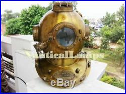 Antique U. S Navy Mark V Divers Diving Helmet Scuba Decorative Vintage SCA Gift