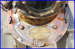 Antique U. S Navy Mark V Premium Quality Model Diving Divers Helmet Steel & Brass