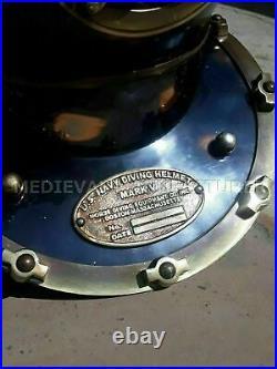 Antique Vintage BOSTON MARK V U. S Navy Deep Sea Divers Helmet Replica18 Gift