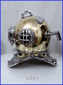 Antique Vintage Brass Helmet Diving Divers Vintage Helmet U. S Navy Mark V Sea