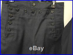 Antique Vintage World War II Navy Dress Blues Uniform, Jumper, Pants And Tie