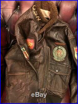 Avirex G1 Leather Jacket/ M422 A Pearl Harbor USN/USAAF LTD Edition Size M