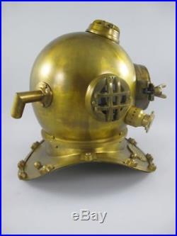 Boston Antique 18 U. S Navy Diving Helmet Mark V Deep Sea Divers Vintage Decor