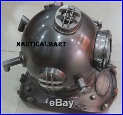 Boston Mass U. S Navy Mark V Diving Divers Helmet Full Size