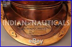 Boston Mass U. S Navy Mark V Solid Copper and Brass Full Size Diving Helmet Diver