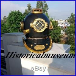 Brass Diving Helmet U. S Navy Mark V Scuba Antique Nautical Vintage