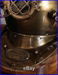 Brass Diving Vintage Divers Helmet Antique Maritime U. S Navy Mark V Maritime