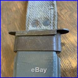 Camillus USN Mark 2 WWII era knife and scabbard