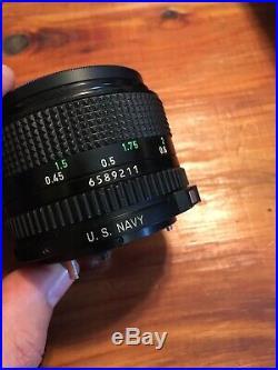 Canon FD 50mm f1.4 U. S. NAVY #6589211 Rare! Near Mint