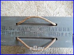 Complete Ww2 Usn Miniature British Identification Ships, Framburg Chicago 1943