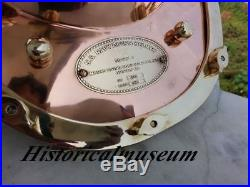 Copper-Brass Diving Helmet U S Navy's Mark V Divers