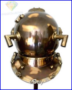 Copper Brass Made 18 Boston Mass Antique U S Navy Mark V Diving Divers Helmet