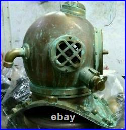 Copper Morse Antique Brass Boston Scuba SCA Divers Diving Helmet US Navy Helmet