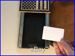 Customize It USMC USN FLAG WALL SAFE GUN CONCEALED HIDDEN CABINET RFID